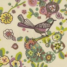 QUICK! Someone buy me some of this....I'm in love! :)    Alexander Henry House Designer - Larkspur - Larkspur Birds in Soft Nude