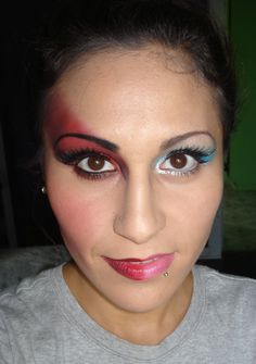 half devil half angel makeup - Google Search