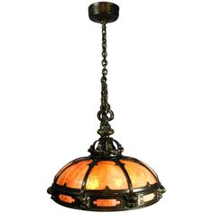 Monumental Gothic Slag, Glass Dome Fixture by Mitchell Vance & Co. | From a unique collection of antique and modern chandeliers and pendants  at https://www.1stdibs.com/furniture/lighting/chandeliers-pendant-lights/