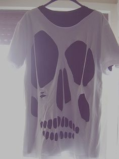 diy clothes | diy, fashion, hipster, shirt, skull - inspiring picture on Favim.com