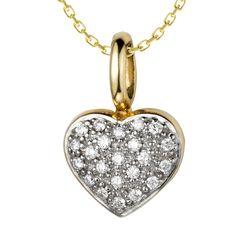 Journey's End Diamond Necklace: Rs.23,170    #diamond #pendant #gold #heart #love