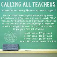 Looking for teachers who need a little extra $$$ for their classroom!  www.EmilyTruslow89.jamberrynails.net