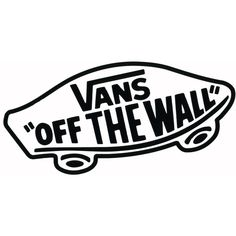 VANS Off The Wall Sticker (€2,22) ❤ liked on Polyvore featuring fillers, words, quotes, text, doodles, effect, phrase, saying i scribble