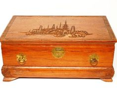 Antique Japanese Black Lacquer Jewelry Box Paper Box