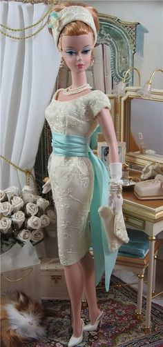 Poupée - robe de style '40-50s