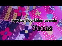 FAÇA VOCÊ MESMO :TAPETES DIVERTIDOS USANDO JEANS!!!!!!!!!!! - YouTube