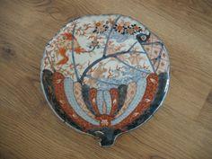 ANTIQUE IMARI PORCELAIN JAPANESE PLATE UNUSUAL SHAPE BIRD DRAGON DECORATION RARE   eBay