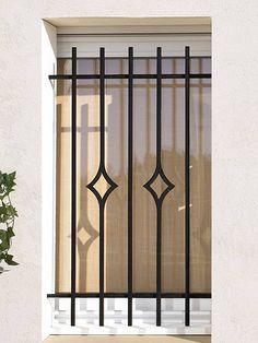 Modern window bars home window iron grill designs ideas project window bars in 2019 - Grate finestre in ferro ...