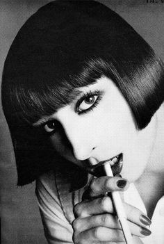 Anjelica in Vogue, 1973.  Photographed by Richard Avedon.