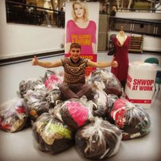 Thanks to everyone who supported #shwopatwork. We filled 33 bags! Oxfam GB, Marks & Spencers. Photo by derbyuni