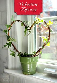 A tutorial to show you how easy it is to create a heart shaped topiary with ivy clippings @prettyhandygirl