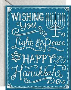 Chalkboard A2 Hanukkah Cards