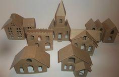 Vintage Putz Houses   Vintage Set of 6 by littlevillagehouses, $35.00