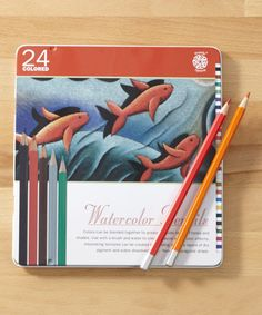 Another great find on #zulily! 24-Piece Watercolor Pencil Set #zulilyfinds