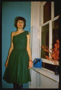 Nan Goldin - Vivienne in the green dress, NYC  1980 the ballad of sexual dependency