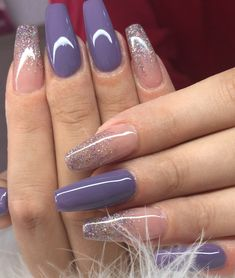 59 Awesome Acrylic Nail Art Designs to Inspire You - Another! Acrylic Nails Stiletto, Simple Acrylic Nails, Acrylic Nail Art, Acrylic Nail Designs, Simple Nails, Coffin Nails, Nail Art Designs, Glitter Nails, Fabulous Nails