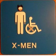 (X-) Men's restroom sign