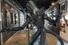 From the aliens of Alien to Sil of Species, the Swiss surrealist's unnerving biomechanical creatures lie in wait in a cheery medieval town known for its cheese. Hr Giger Bar, Alien Proof, Love Monster, Aliens Movie, Medieval Town, Group Tours, Rogues, Night Club, Creepy