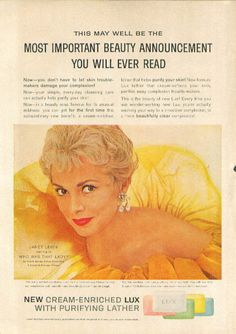 0 Janet Leigh for Lux Soap ad 1960