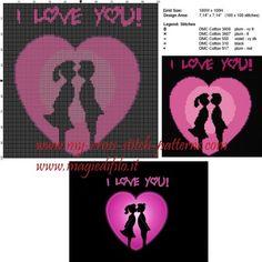 Schema punto croce I Love You 100x100 5 colori.jpg (2.65 MB) Osservato 4 volte
