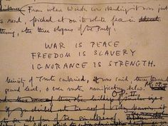 "George Orwell's ""1984"", Original corrected manuscript - completed December 1948"