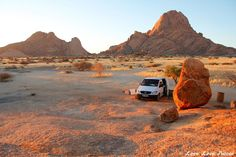 """Set up camp in the most beautiful campsite in Namibia - Spitzkoppe. A billion stars, surrounded by the nearly 700 million year old """"Matterhorn of Namibia"""". Camping Survival, Camping Hacks, Camping Site, Things To Take Camping, Places To Travel, Places To Go, Road Trip, Safari Holidays, Camping For Beginners"""