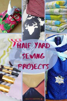 Find scrapbuster and small patterns in our Half Yard Sewing Projects section! | AllFreeSewing.com