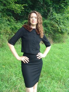 S 60's Women's Black Suit Vintage  Jack Bloom by SerendipityCircus