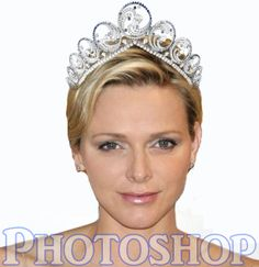 Charlene in the Ocean Tiara Royal Tiaras, Royal Jewels, Tiaras And Crowns, Casa Real, Charlene Of Monaco, Brooches, Royals, Jewelery, Photoshop