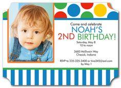 Primary Party - photoaffections.com #photoaffections #boybirthday #birthdayinvitation #invitation #birthdayboy #birthday