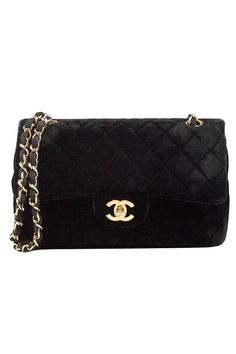 e9b6dc61f1f4 Chanel Black Velvet Double Flap Bag Louis Vuitton Consignment