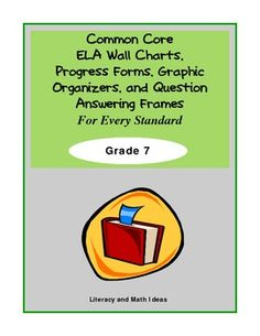 This document contains Graphic Organizers, Question Answering Frames, Student Progress Sheets, and Wall charts all aligned to Common Core.