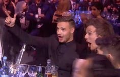 And then later when they found out they won the Global Success Award and celebrated like this: | The 31 Most Perfect One Direction Moments From The Brit Awards
