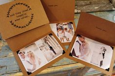 and they lived happily ever after... Rustic Wedding Thank you Photo Cards. $68.75, via Etsy.