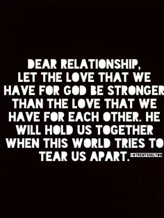 Perfect and so true. It's amazing how the stress and worry disappears when God is number 1 in your relationship.