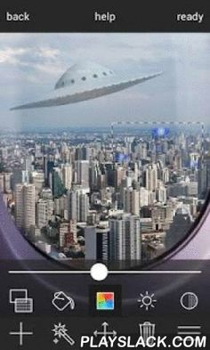 """UFO In Photo  Android App - playslack.com ,  Add UFO to your photo! """"UFO in photo"""" app lets you insert UFO object in your photo in very simple way.With apps legible and readable user interface you will add all kinds of spaceships, flying objects or alien bodies without any effort.You don't need to be familiar with photo editing or have photo processing skills. You only need to select photo you want to modify and pick an UFO object you want to insert. That is all!Moreover you can adjust size…"""