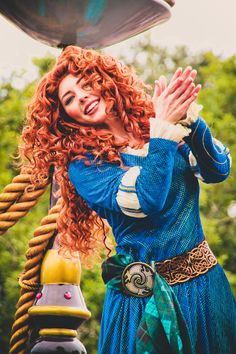 Princess Merida from Disney Pixar's Brave in the Festival of Fantasy parade at the Magic Kingdom in Walt Disney World