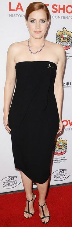 Amy Adams: Dress – A.L.C.  Earrings – EF Collection  ring – Irene Neuwirth