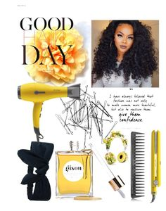 """""""Good Hair Days"""" by kimoria on Polyvore featuring beauty, Drybar, Monki, Gisou by Negin Mirsalehi, Dolce&Gabbana and GHD"""
