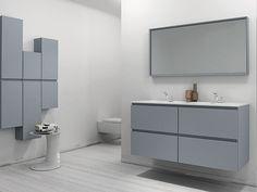 Mueble bajo lavabo lacado con cajones Colección Strato by INBANI | diseño Sergio Rochas