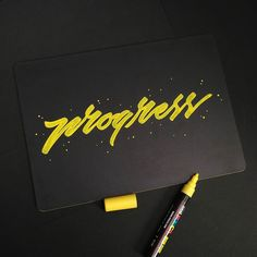 Find me on Instagram @_rdwnsyh . http://ift.tt/2lqgD8l A little progress each day adds up to big result. . . . . #lettering #calligraphy #typography #goodtype #handlettering #typegang #handwritten #handdrawn #customlettering #handmadefont #typism #typeinspired #ligaturecollective #kaligrafina #belmenid #hurufraktur #TYxCA #strengthinletters #handlettering #50words #artoftype #designinspiration #pinterest #thedesigntip #typespire #calligritype #script  #posca #poscalifecustom #blackpad
