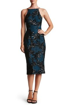 Dress the Population Ashley Sequin Lace Sheath Dress available at #Nordstrom