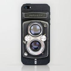Vintage Camera Yashica 44 iPhone & iPod Skin by Maximilian San - $15.00