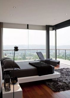 House LAM is a Contemporary Architectural design by Nico van der Meulen Architects. Modern Bedroom Design, Master Bedroom Design, Home Bedroom, Home Interior Design, Interior Architecture, Contemporary Bedroom, Interior Ideas, Contemporary Kitchens, Modern Contemporary