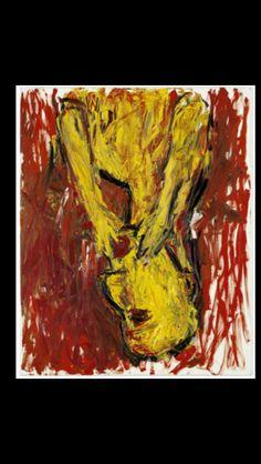 "Georg Baselitz - "" Orangenesser "", 1982 - Oil on canvas - 162 x 130 cm"