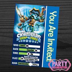 PRINTABLE INVITATION  Skylanders Swap Force  by PartyHeadquarters, $10.99