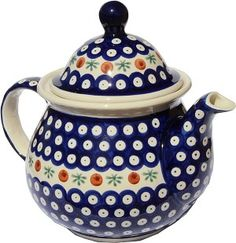 My Favorite Teapot Polish Pottery - THIS is my pattern!!!!!!!  Well, one of them. ;)