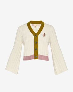 Relaxed rib cardigan - Cream | Knitwear | Ted Baker SEU