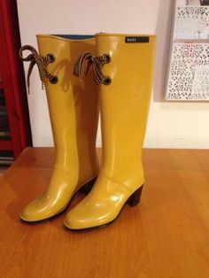 Marc Jacobs Rain Boots Yellow Wms Size 6 Used | eBay