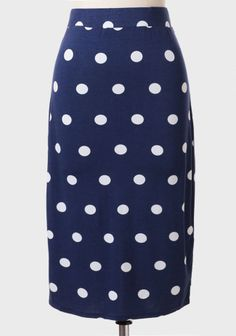 Hello Fabulous Polka Dot Pencil Skirt